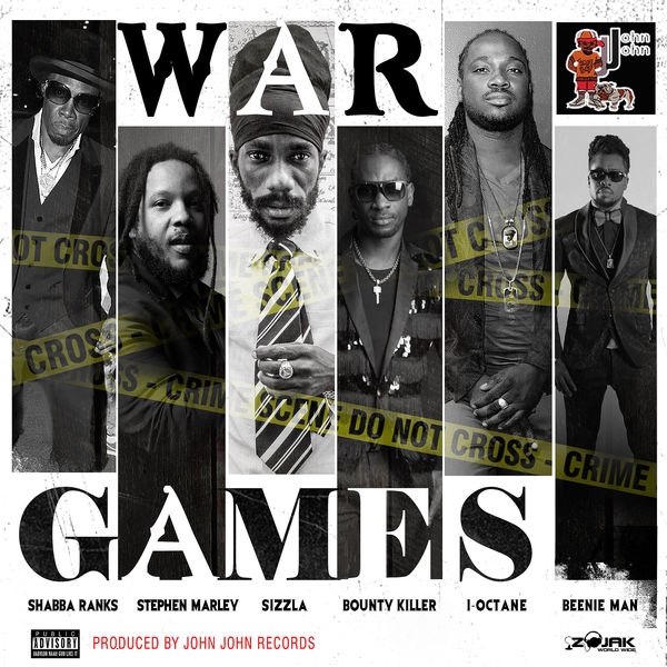 Shabba Ranks feat. Stephen Marley, Sizzla, Bounty Killer, I-Octane & Beenie Man – War Games (2017) Single